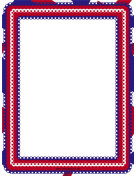 Red White and Blue Eyelet Border