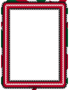 Red White and Green Eyelet Border