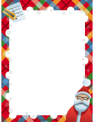 Santa List Christmas Border