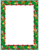 Santa and Trees Christmas Border