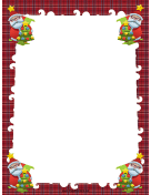 Santas and Trees Christmas Border