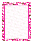 Scalloped Hearts and Cupcakes Border