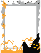 Spooky Ghosts Halloween Border