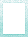 Teal Abstract Border