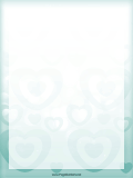 Turquoise Heart Border