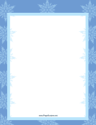 Two Blues Snowflake Border