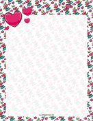 Valentines Day Flowers Border