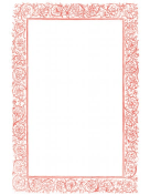 Victorian Vines Red Border