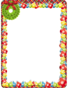 Wreath and Ornaments Christmas Border