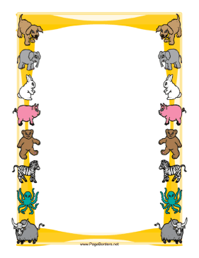 Animal Border page border