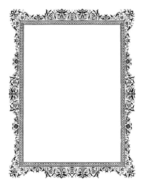 Antique BW Border page border