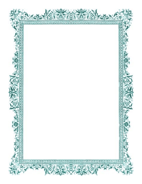 Antique Green Border page border