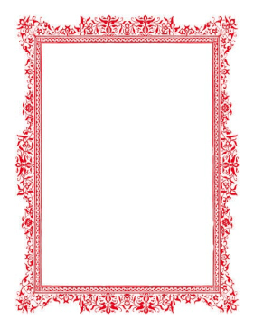 Antique Red Border page border