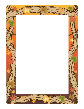 Autumn Border page border