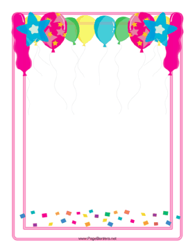 Balloon Border page border