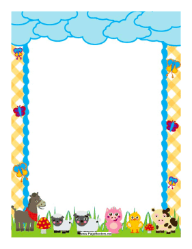 Barnyard Friends Border page border