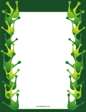 Big Green Footprint page border