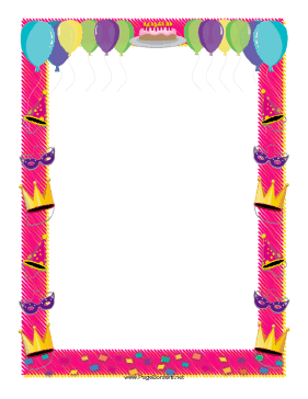 Birthday Border page border