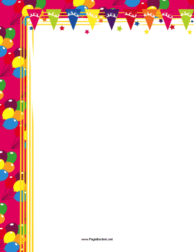 Birthday Party Border page border