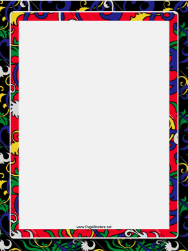 Black Chinese Border page border