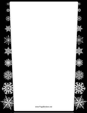 Black and Gray Snowflake Border page border