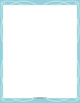Blue-and-White Border page border