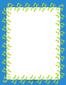 Blue-and-Yellow Footprint Border page border