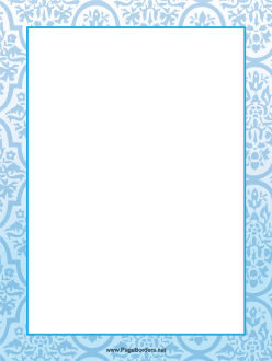 Blue Abstract Border page border