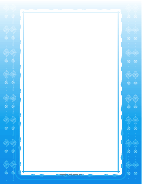 Blue Christian Cross Frame page border