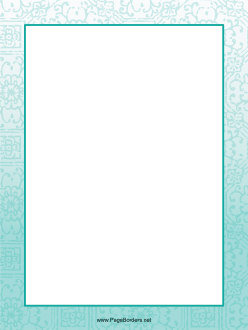 Blue Flower Border page border