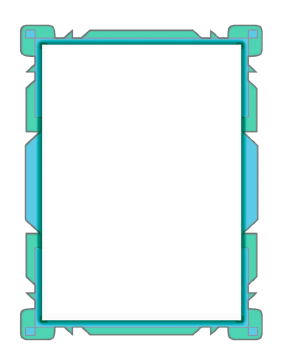 Blue Flowpoint Border page border