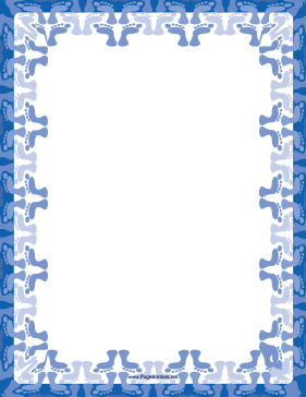 Blue Footprint Border page border