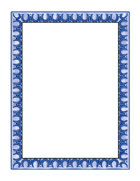 Blue Horseshoe Border page border