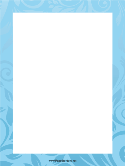 Blue Leaves Border page border