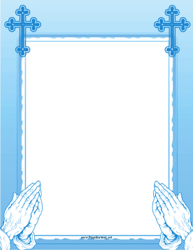 Blue Prayer Border page border