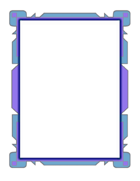 Blue Purple Flowpoint Border page border