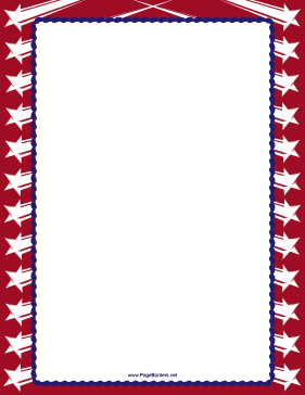 Blue Stripes Red Stars Border page border