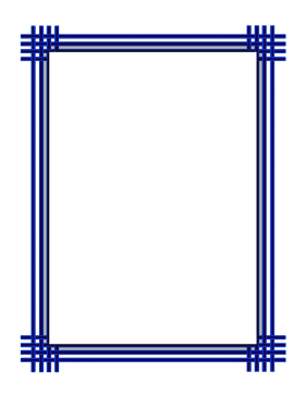 Blue Weave Border page border