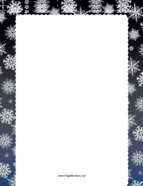 Blue and Gray Snowflake Border page border