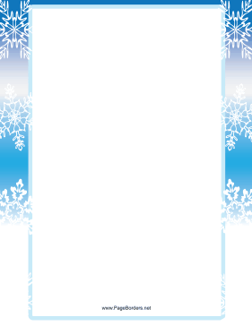 Blue and White Snowflake Border page border