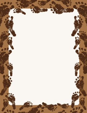 Brown Footprint Border page border