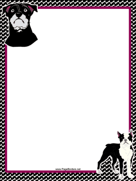 Bull Terrier Dog Border page border