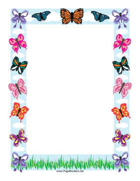 Butterfly Border page border