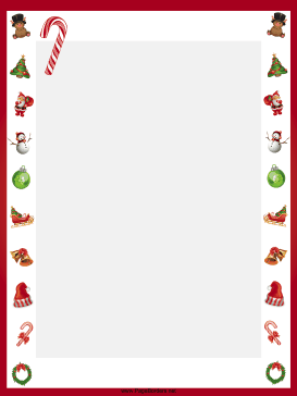 Candy canes christmas border page border