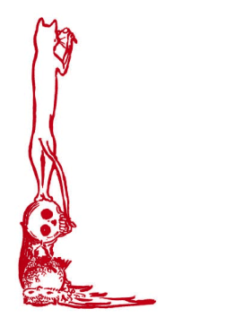 Cat and Skull Border page border