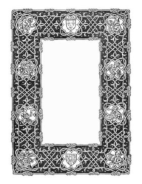 Celtic Knotwork Border page border