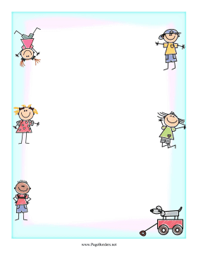 Childlike Drawing Border page border