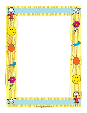 Kids & School Page Borders