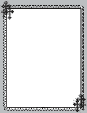 Christian Black Cross Frame page border