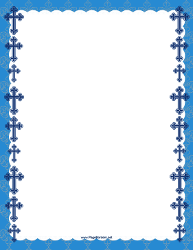 Christian Blue Cross Border page border